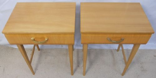 Pair Lamp Tables, Stands by Meredew